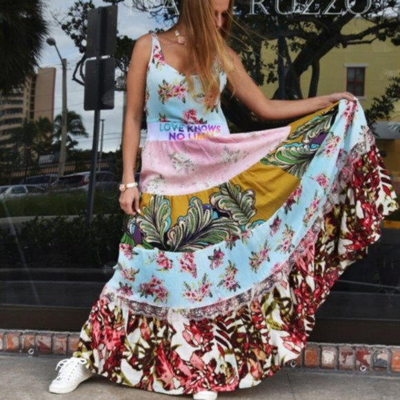 Designer Upcycled Couture Maxi Dress